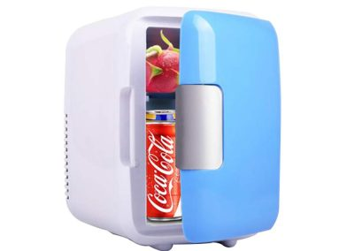 4L Car Refrigerator Hot and Cold Dual-Use Compact and Practical Mini-Fridge, DC12V, L9.05 W6.88 H9.44inchs