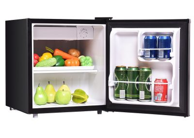 COSTWAY Compact Refrigerator and Freezer With Single Door Cooler Fridge,1.7 Cubic Feet,Unit (Black)_2