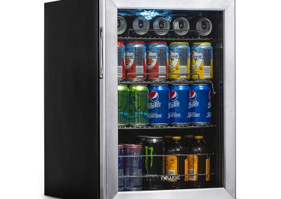 NewAir AB-850 Beverage Refrigerator, 90 Can, Stainless Steel
