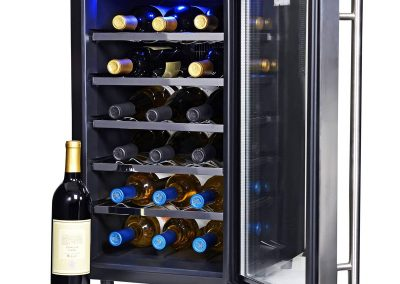 NewAir Wine Cooler and Refrigerator, 18 Bottle Freestanding Wine Chiller Fridge, Stainless Steel with Glass Door, AW-181E_2