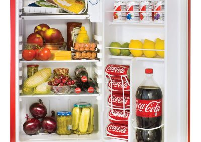 Nostalgia Coca-Cola Series RRF300SDBCOKE 3.2 Cubic Foot Refrigerator with Freezer Compartment_2