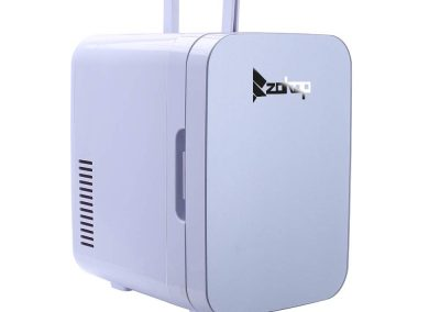 ZOKOP Electric Mini Portable Fridge Cooler and Warmer -6 Liter - 0.21 Cuft - 8 Can) AC-DC Portable Thermoelectric System Blue