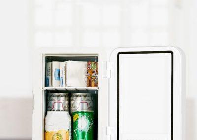 6L Silent Mini Fridge Cooler and Warmer—White_2