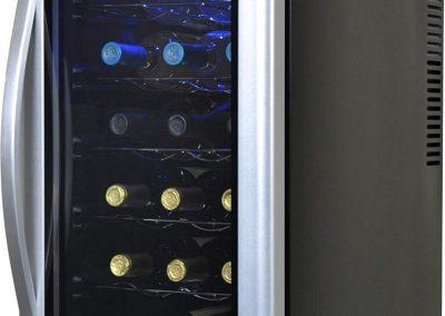 Avalon Bay AB-WINE18S Wine Fridge 18 Bottle Black-Silver
