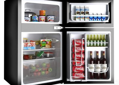 COSTWAY Compact Refrigerator 3.2 cu ft. Unit Small Freezer Cooler Fridge (Black)_2