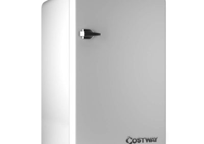 COSTWAY Compact Refrigerator, Single Door 3.2 cu. ft. Small Under Counter Mini Refrigerator Fridge Freezer Cooler Unit with Handle for Dorm, Office, Apartment (White)