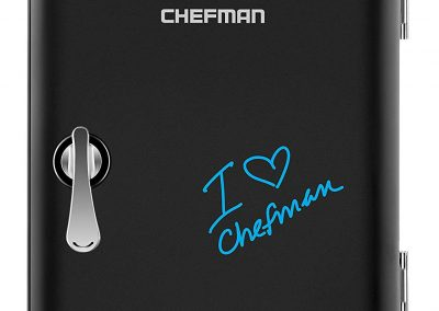Chefman Mini Portable Eraser Board Personal Fridge, Cools & Heats 4 Liter Capacity, Chills 6 12oz cans, 100% Freon-Free & Eco Friendly, Includes Plugs for Home Outlet and 12V Car Charger