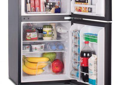Commercial Cool CCRD32B Compact Double Door Refrigerator with True Freezer, 3.2 Cu. Ft. Mini Fridge, Black_2