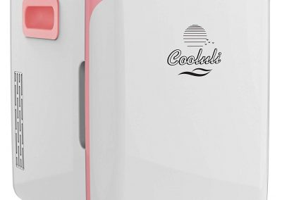 Cooluli CMF15LP Mini Fridge Electric Cooler and Warmer AC-DC Portable Thermoelectric System, Compact Refrigerator 15 Liter-18 Cans Pink