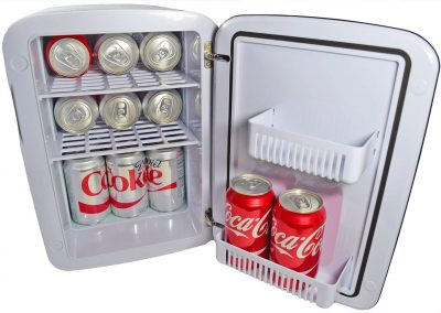 Cooluli CMF15LW Mini Fridge Electric Cooler and Warmer AC_DC Portable Thermoelectric System, Compact Refrigerator, 15 Liter_18 Cans, white_2