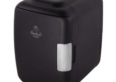 Cooluli Classic 4-liter Compact Cooler-Warmer Mini Fridge for Cars, Road Trips, Homes, Offices and Dorms (Black)