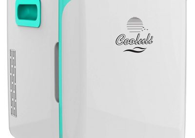 Cooluli Electric Cooler and Warmer _10 Liter - 12 Can_ AC-DC Portable Thermoelectric System - Turquoise