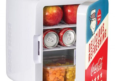 Cooluli K10LGA Mini Fridge Coca-Cola Americana Retro -10 Liter_12 Can-Portable AC_DC Powered Cooler and Warmer for Cars, Road Trips, Homes, Offices, and Dorms,_2