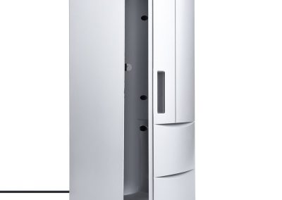 Corsion Portable USB Desktop Mini Refrigerator Beverage Cooler Freezer Fridge