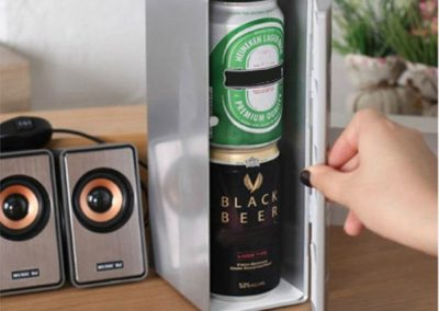 Corsion Portable USB Desktop Mini Refrigerator Beverage Cooler Freezer Fridge_2