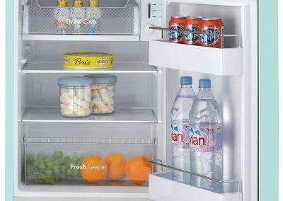 Daewoo Retro Compact Refrigerator, 2.8 cu. ft., Mint_2
