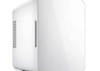 GJM Shop Car Refrigerator 4L Car 12V-Home 220V Dual-Purpose Portable Picnic Refrigerator Energy Saving Refrigeration-Heating Dormitory Refrigerator 241825cm -Blue-Pink-White-Sliver-Gray