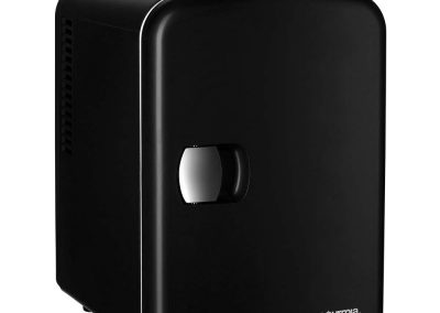 Gourmia GMF600 Thermoelectric Mini Fridge Cooler and Warmer - 4 Liter-6 Can - For Home,Office, Car, Dorm or Boat - Compact and Portable - AC and DC Power Cords - Black