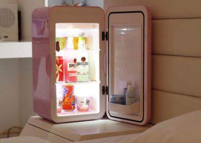 Household Mini Refrigerator, Small Fridge 16l Dormitory Office Breast Milk Cosmetics Medicine Refrigerator-Pink 27x26.6x49.3cm(11x10x19inch)
