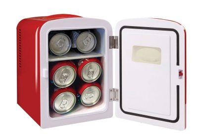 Igloo Mini Beverage Refrigerator - Retro 6 Can Mini Fridge Red - 4 Liter Capacity_2