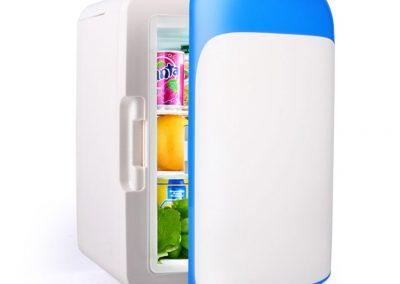 Mano Home 10L Mini-Fridge Dormitory Micro-refrigerators Automotive Small-Scale Home Car Coolers Semi-Conductor Refrigeration -Color - Blue_2