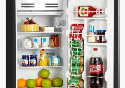 Midea WHS-121LSS1 Compact Single Reversible Door Refrigerator and Freezer, 3.3 Cubic Feet, Stainless Steel_2