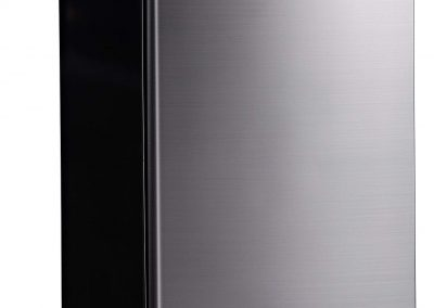 Midea WHS-160RSS1 Single Reversible Compact Refrigerator, 4.4 Cubic Feet, Stainless Steel