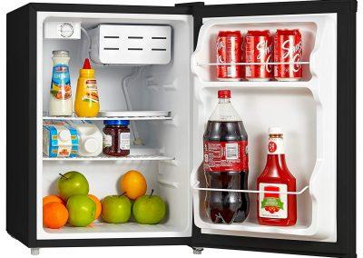 Midea WHS-87LB1 Compact Reversible Single Door Refrigerator and Freezer, 2.4 Cubic Feet, Black