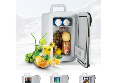 Mini Fridge with CNC Dual core - Cools & Heats 12 Liter Capacity Compact Refrigerator - Includes Plugs for Home Outlet AC and DC Car Charge,100% Freon-Free and Eco Friendly_2