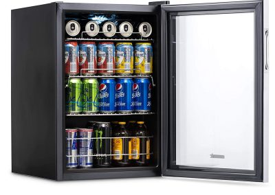 NewAir AB-850 Beverage Refrigerator, 90 Can, Stainless Steel_2