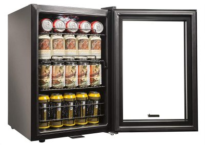 NewAir AB-850B Beverage Cooler and Refrigerator, Small Mini Fridge with Glass Door, Black_2