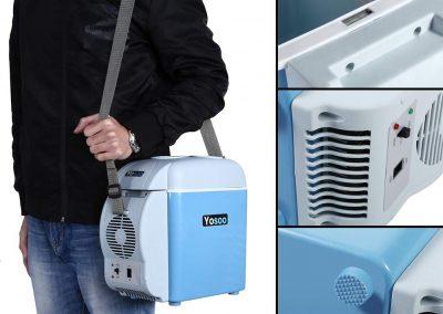 Portable 7.5L Mini 12V Car Refrigerator Freezer Dual-Use Home Travel Vehicular Car Fridge Dual-Mode Temperature Control Dual-use_2