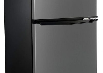 Proctor Silex Compact Refrigerator Under Counter Mini Fridge, Stailness Steel