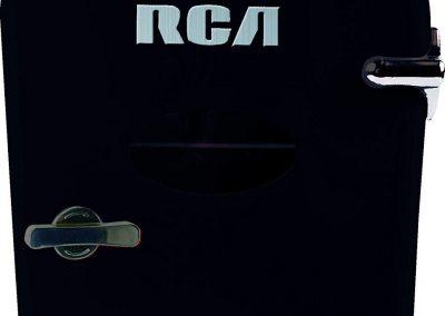 RCA Mini Retro 6 Can Beverage Refrigerator-Black, RMIS129-BLACK