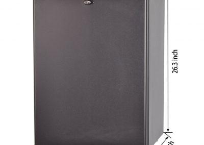 SMETA 110V 12V 1.6 cu ft Compact Refrigerator with Reversible Door,Low Noise Beverage Car Cooler Fridge,BLACK_2