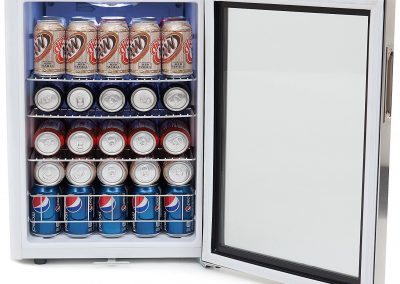 Whynter BR-091WS, 90 Can Capacity Stainless Steel Beverage Refrigerator with Lock White_2