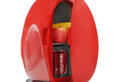 YI HOME- Egg-Shaped Car Refrigerator Portable Mini Fridge Household Small Electronic Freezer Office Cooling Heating 10L,Red