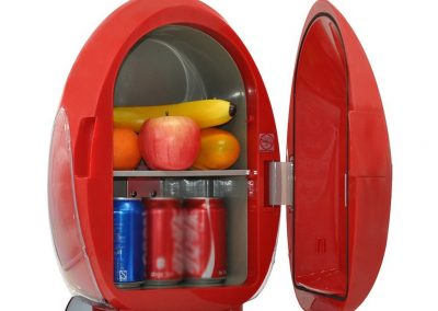 YI HOME- Egg-Shaped Car Refrigerator Portable Mini Fridge Household Small Electronic Freezer Office Cooling Heating 10L,Red_2
