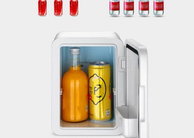 YXGH at 4L Silent Mini Fridge Cooler and Warmer Automotive Accessories Refrigerators (Color - White)_2