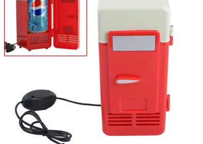 Zorvo Mini Fridge USB Cooler Refrigerator Organizer For Laptop PC Office