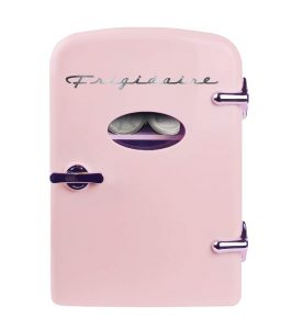 Frigidaire Retro Mini Compact Beverage Refrigerator 6 Can Pink