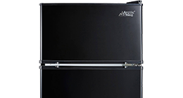 two door mini fridge freezer arctic king