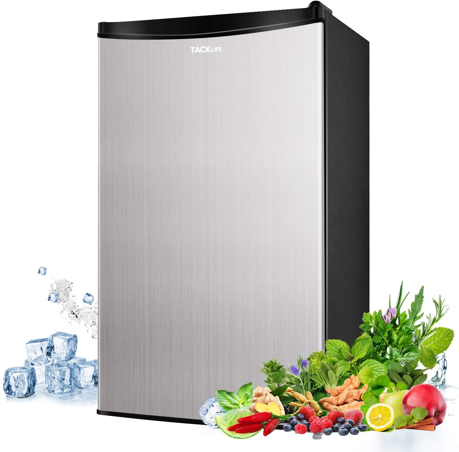 Compact Refrigerator, TACKLIFE 3.2 Cu.Ft Low Noise Mini Fridge with Freezer