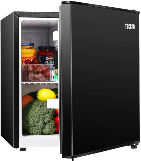 3.2 CU. FT. Mini Fridge With Freezer - 2 Door MIni Fridge Chiller and Freezer Compartment with Removable Glass Shelves